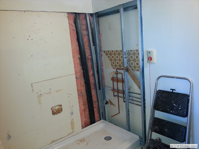 Old bathroom gutted and ready for renovation